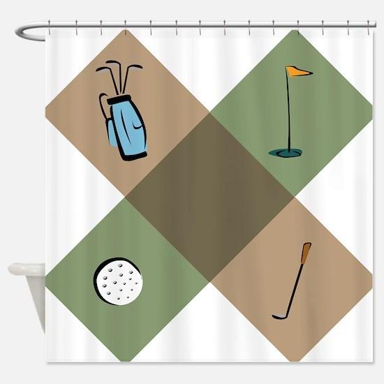 Golf Icon Shower Curtain