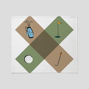 Golf Icon Throw Blanket
