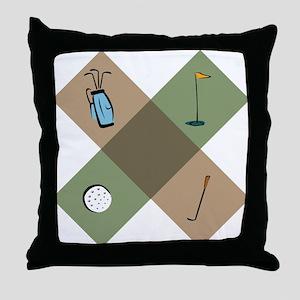 Golf Icon Throw Pillow