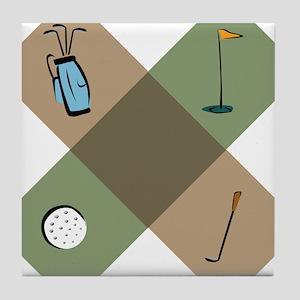 Golf Icon Tile Coaster