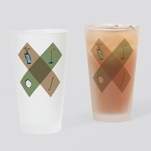 Golf Icon Drinking Glass