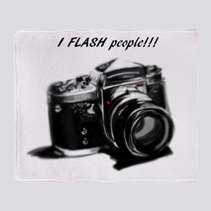 I flash people Throw Blanket