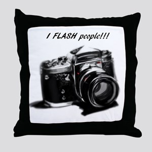 I flash people Throw Pillow