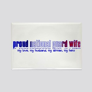 Proud Air National Guard Wife Rectangle Magnet