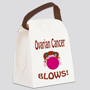 Ovarian Cancer Blows! Canvas Lunch Bag