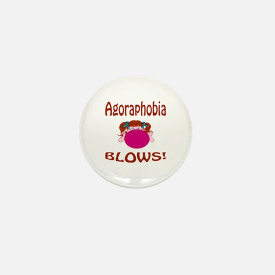 Agoraphobia Blows! Mini Button