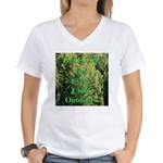 Get ECO Green Women's V-Neck T-Shirt