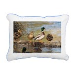 Mallard Ducks Rectangular Canvas Pillow