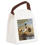Mallard Ducks Canvas Lunch Bag