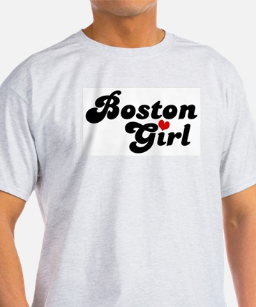 Boston Girl Ash Grey T-Shirt