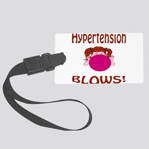 Hypertension Blows! Large Luggage Tag