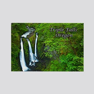 Triple Falls Rectangle Magnet