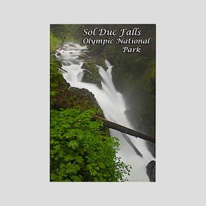Sol Duc Falls Rectangle Magnet