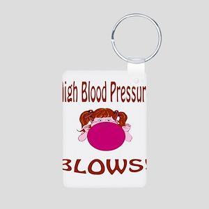 High Blood Pressure Blows! Aluminum Photo Keychain
