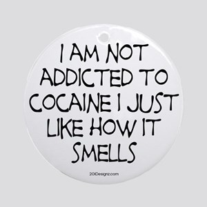 Smelly Cocaine Ornament (Round)