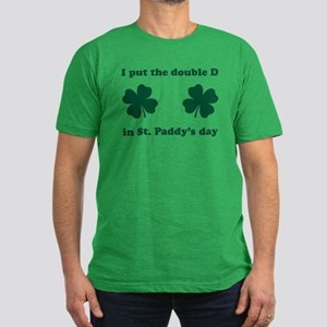 St. Paddy's Double D Men's Fitted T-Shirt (dark)