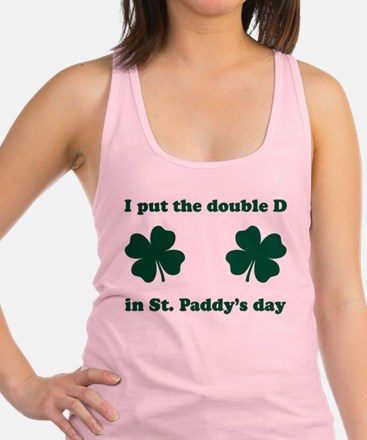 St. Paddy's Double D Racerback Tank Top