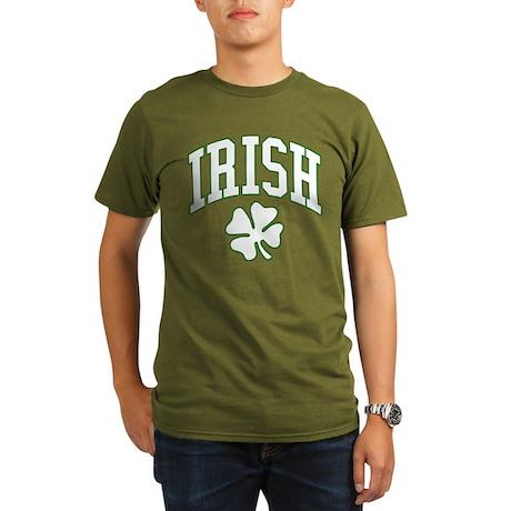 IRISH with Shamrock Organic Men's T-Shirt (dark)