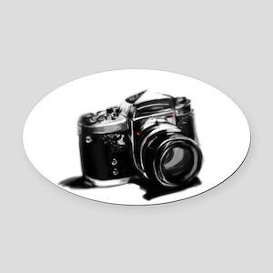 Camera Oval Car Magnet