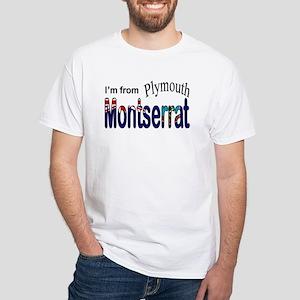 Plymouth Montserrat White T-Shirt