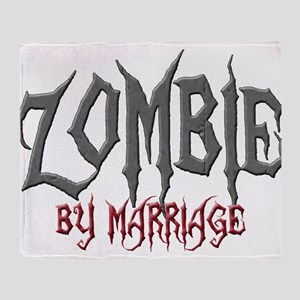 Zombie by marriage Throw Blanket