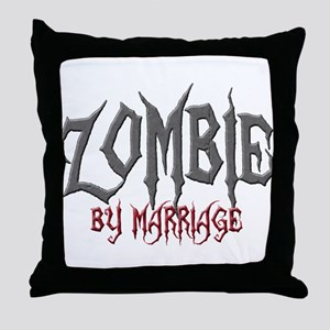 Zombie by marriage Throw Pillow
