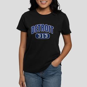 Detroit 313 Women's Dark T-Shirt