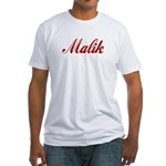 Malik name Fitted T-Shirt