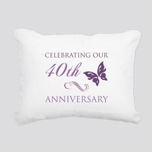 40th Anniversary (Butterfly) Rectangular Canvas Pi