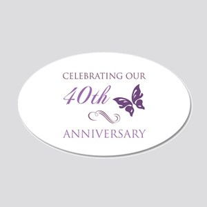 40th Anniversary (Butterfly) 20x12 Oval Wall Decal