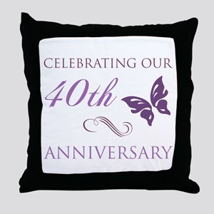40th Anniversary (Butterfly) Throw Pillow