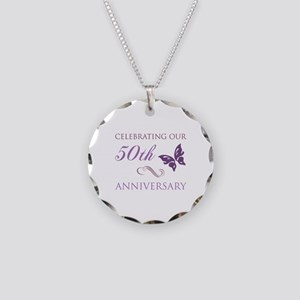 50th Anniversary (Butterfly) Necklace Circle Charm