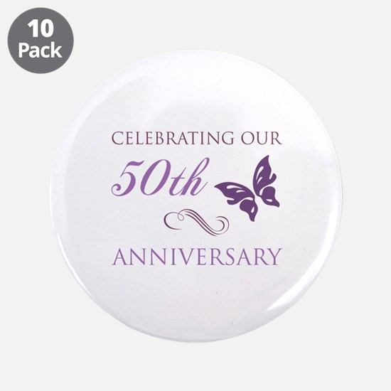 """50th Anniversary (Butterfly) 3.5"""" Button (10 pack)"""