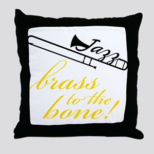 Brass To The Bone Throw Pillow
