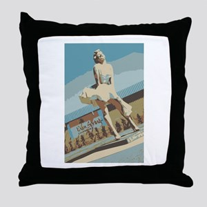 Palm Springs California Throw Pillow