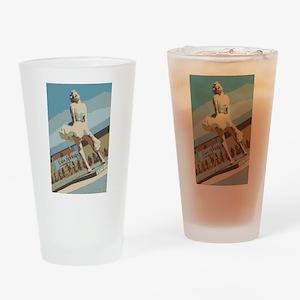 Palm Springs California Drinking Glass