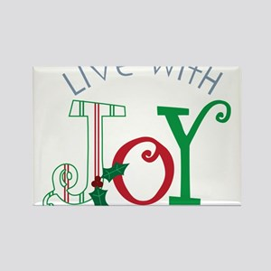 Live With Joy Rectangle Magnet