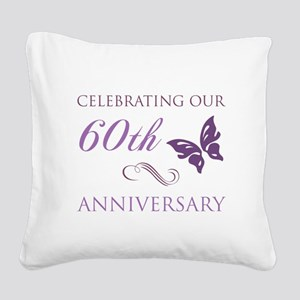 60th Anniversary (Butterfly) Square Canvas Pillow