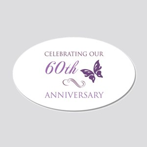 60th Anniversary (Butterfly) 20x12 Oval Wall Decal