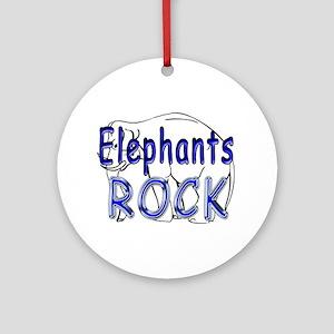 Elephants Rock Ornament (Round)