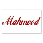 Mahmood name Sticker (Rectangle 50 pk)