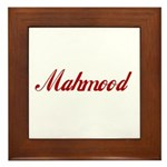 Mahmood name Framed Tile