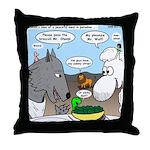 Sheep, Wolf, et al Throw Pillow