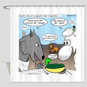 Sheep, Wolf, et al Shower Curtain