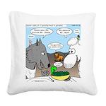 Sheep, Wolf, et al Square Canvas Pillow