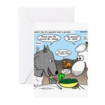 Sheep, Wolf, et al Greeting Cards (Pk of 10)