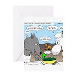 Sheep, Wolf, et al Greeting Card