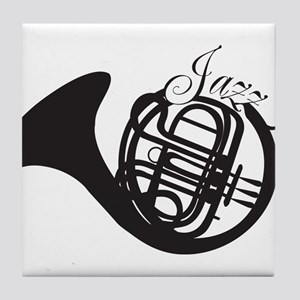 Jazz French Horn Tile Coaster