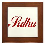 Sidhu name Framed Tile