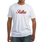 Sidhu name Fitted T-Shirt